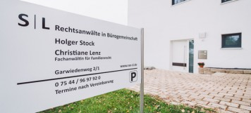 Stock und Lenz Anwaltskanzlei Markdorf Kanzleischild